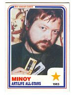 Minoy's baseball card. Courtesy of Hal McGee.