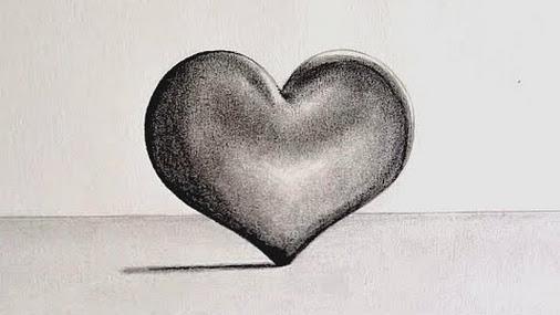 Como Dibujar Un Corazón En 3d Con Lineas: Imagen De Corazon A Lapiz