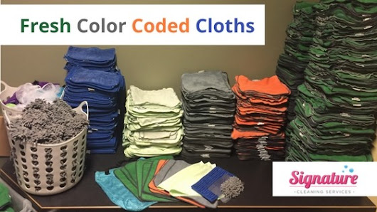 Fresh Color Coded Cloths | Signature Cleaning