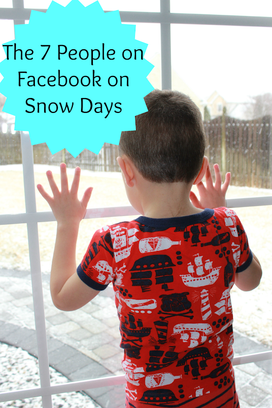 The 7 People on Facebook on Snow Days - Wine in Mom