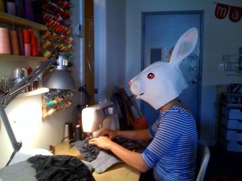 Katie sewing