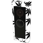 MightySkins RIVDPR2-Pot Leaves Black Skin Compatible with Ring Video Doorbell Pro 2 - Pot Leaves Black