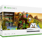 Microsoft Xbox One S Minecraft Creators Bundle with 4K Ultra HD Blu-ray - White - 1 TB