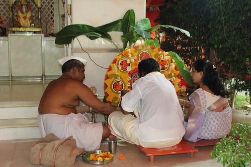 Satyanarayan Puja At Natraj Studio Ganpati Pandal by firoze shakir photographerno1