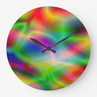 Colorful Abstraction Wall Clock