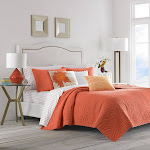 Trina Turk Palm Desert Full/Queen Quilt Set Orange