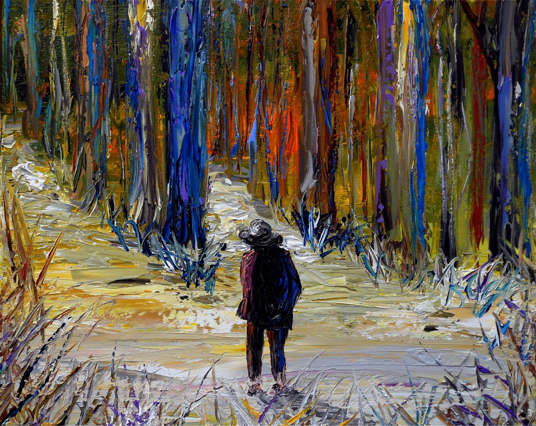 Image result for fork road paintings