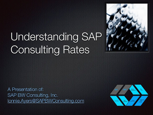 Increase Your Understanding of SAP Consulting Rates