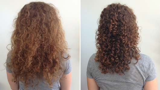 Curly Hair Before & After Controlled Chaos