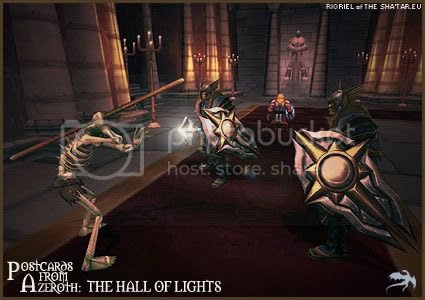 Postcards of Azeroth: Hall of Lights, by Rioriel of theshatar.eu
