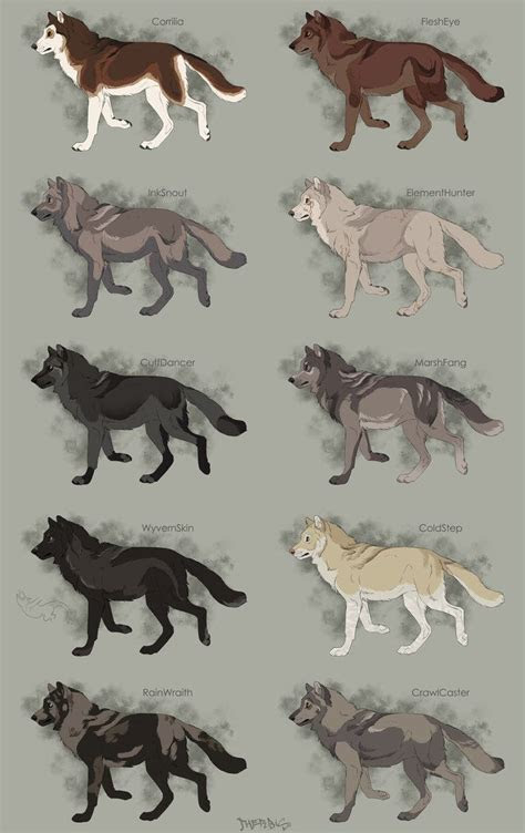 semi realistic wolf adoptables set  open  therbis