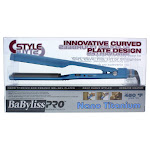 Nano Titanium Deep Curve Styler Flat Iron - Model # BNTC3556C - Blue by BaBylissPRO for Unisex - 1.5 Inch Flat Iron