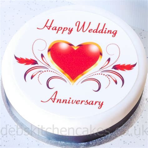 Happy Wedding Anniversary Cakes Images   Happy Birthday
