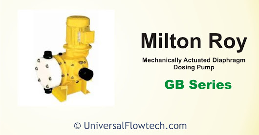 GB Series-Mechanically Actuated Diaphragm Metering Pump - Universal Flowtech Engineers LLP