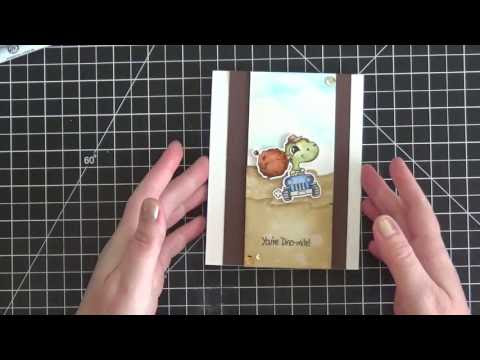 Video Tutorial - Creating a Fun Scene with Distress Ink, Watercolor, and Craftin Desert Divas Stamps
