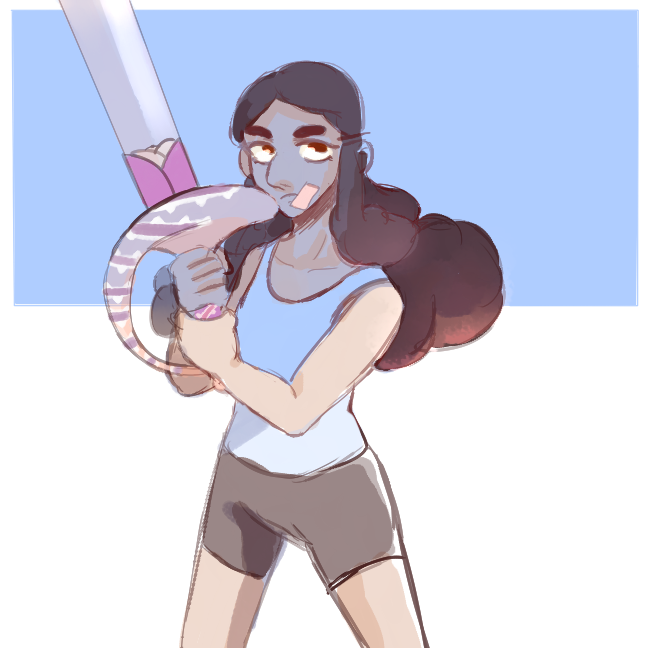 Raise your weapon (it's been too long since I drew her ;w;)