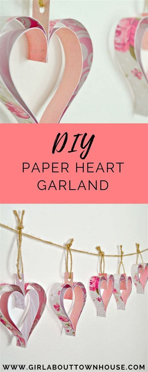 Best 25  Paper heart garland ideas on Pinterest   Paper