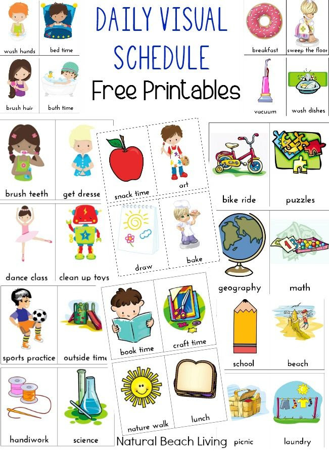 1000+ ideas about Visual Schedules on Pinterest   Autism, Autism ...