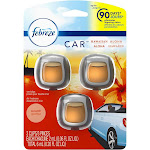 Febreze Odor-Eliminating Car Freshener Vent Clip Hawaiian Aloha Scent - 3ct