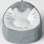 Kids' Character Bean Bag Shark Chair Gray - Pillowfort