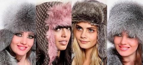 Женские шапки ушанки