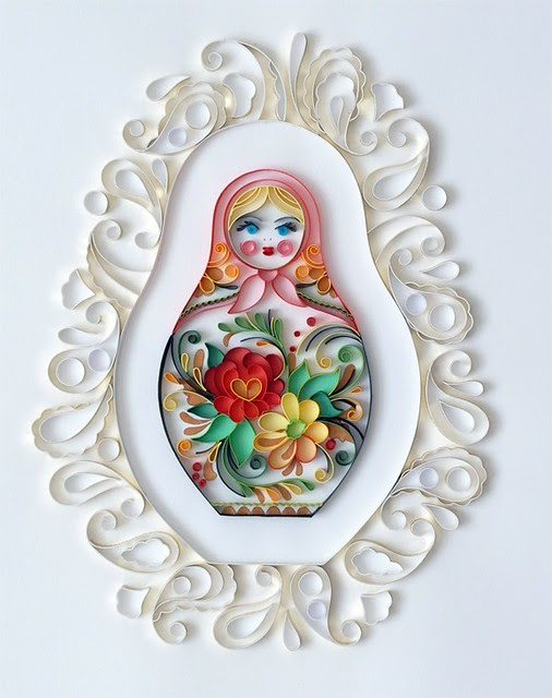 quilled matryoshka doll