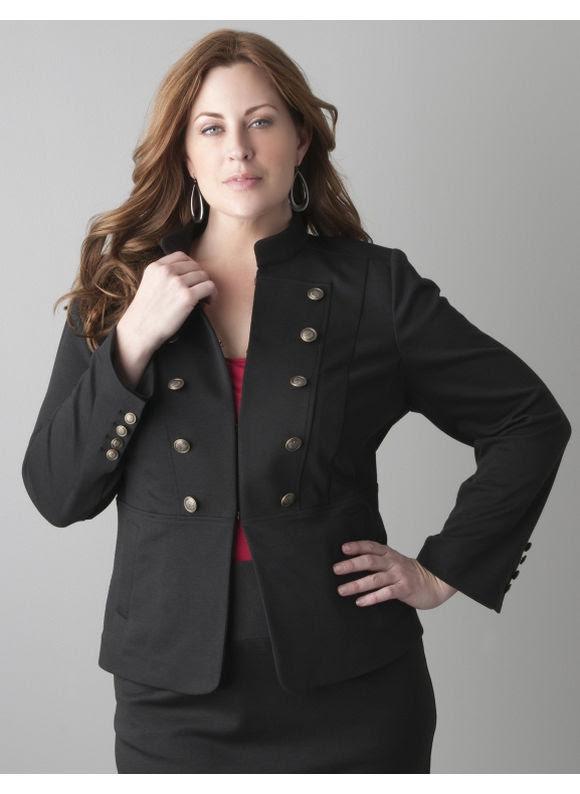 plus size women's business suits