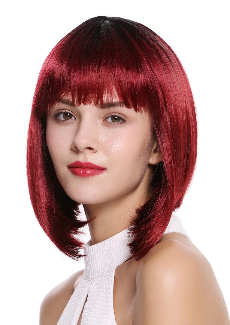 bob frisur schwarz rot