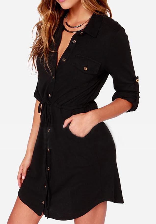 Round Neck Color Block Pocket Tunic Dress homecoming gungahlin