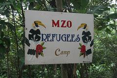 Refugee camp sign by Richard & Jo