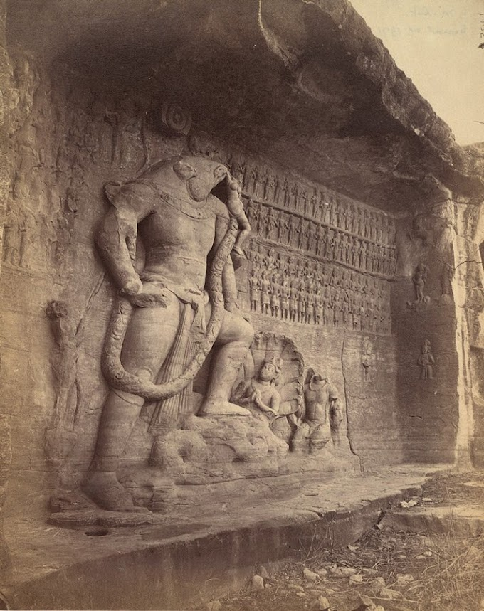 Rare and ancient sculpture Lord Vishnu In Varaha Avatar