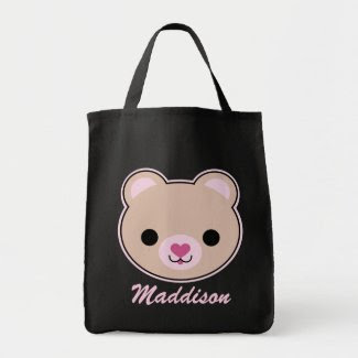 Kawaii Teddy Bear Cute Personalized Tote Bag bag