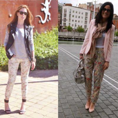 Pantalones Floreados Como Combinarlos Diario De Belleza Y Estilo