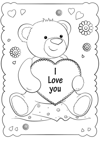 """""""i love you"""" card coloring page  free printable coloring pages"""