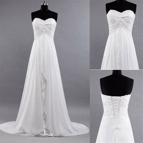 ivory beach wedding dress brides long dresses factory