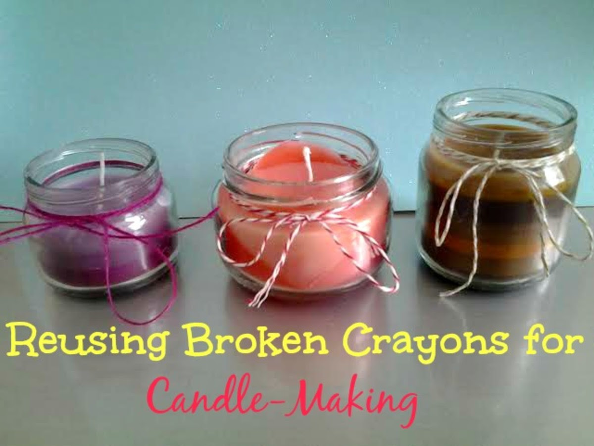 Reusing Broken Crayons for Candle-Making