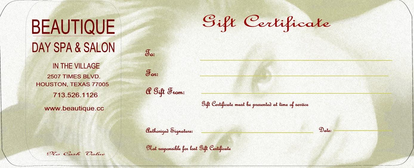 Beauty Parlour Certificate Design | Joy Studio Design ...