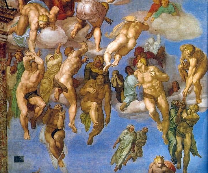 File:Michelangelo, giudizio universale, dettagli 33.jpg