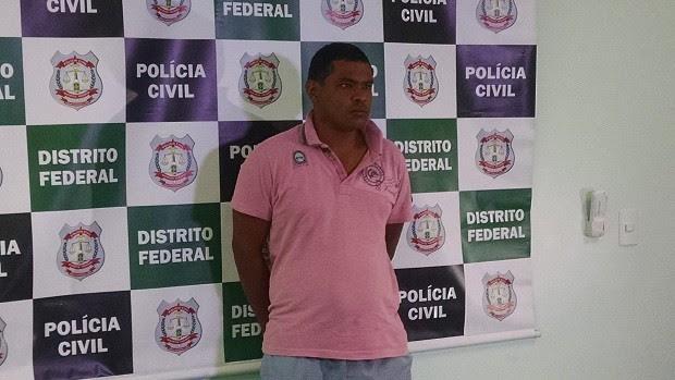Cléber Caitano dos Santos assumiu a autoria do estupro, realizado no último sábado (2) (Foto: Gustavo Schuabb/G1 DF)