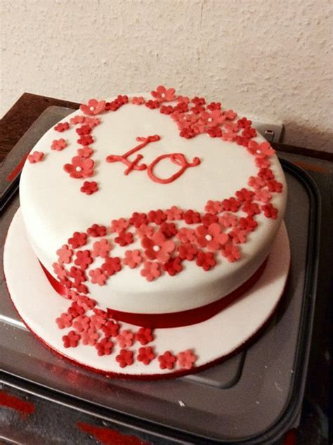 Amazing 40th Wedding Anniversary Cakes Inspirations