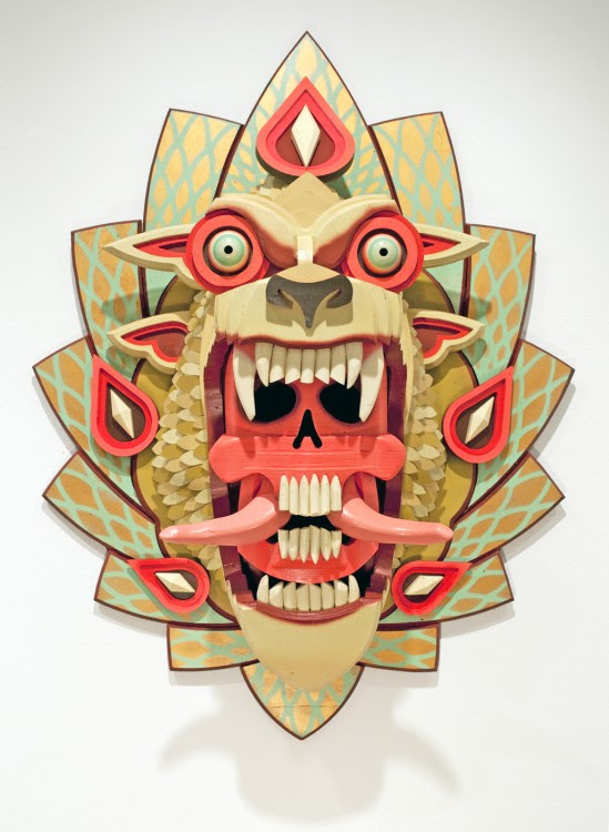 masque aj fossik 07 549x750 Les monstres en relief dAJ Fosik  art