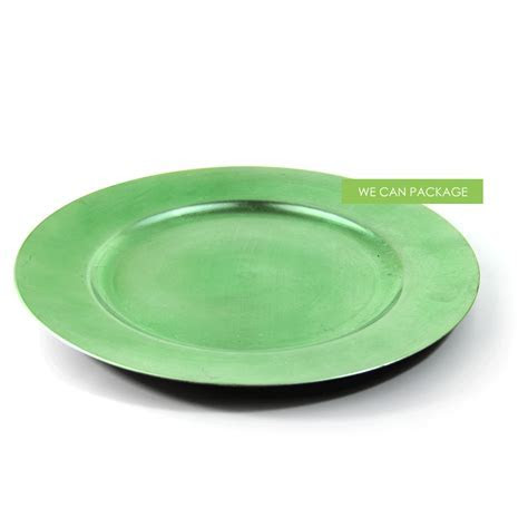 Apple Green Charger Plate   Cheap Charger Plates   Wedding