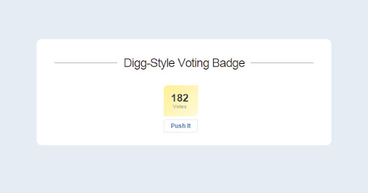 Custom Digg-Style Animated Voting Badge