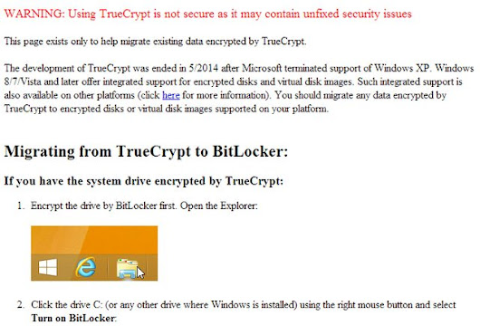TrueCrypt Page Says It's Not Secure, All Development Stopped | Techdirt