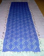 lace scarf blocking