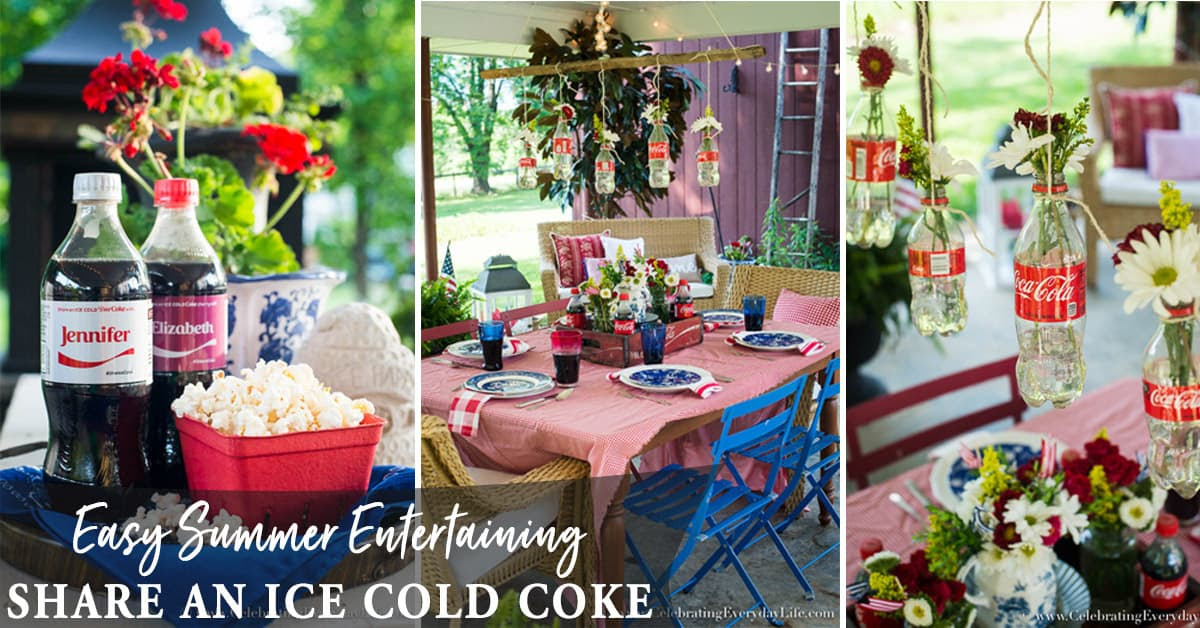 Share A Coke Easy Summer Entertaining Party