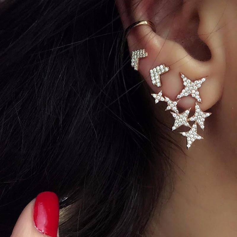 Xandra Crystals Stars & Arrow Earrings