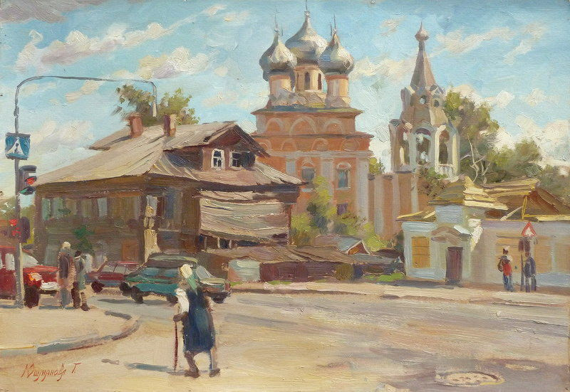 Татьяна Юшманова. Вологда. 2001 г. Холст, масло. 34,5х50 см