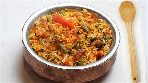vegetable biryani recipe video indian vegetarian recipes