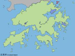吉澳在香港的位置(紅色地方者)